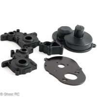 Kyosho RB6/RB6.6 Stand up 3 gear gearbox case, motor plate  and spur gear cover.