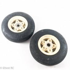 Tamiya Frog Original Vintage Front Wheels & Tyres