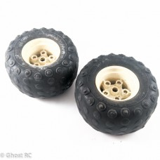 Tamiya Frog Original Vintage Rear Wheels & Tyres