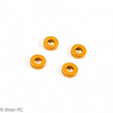 TD709004 Team Durango DEX410 Gold Caster Block Spacer 3x8x2mm (4pcs)