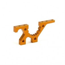 302027-O Xray T3 Alu Front Lower Suspension Adjustment Bulkhead - Orange #Used