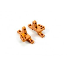 Xray 302034-O Alu Upper Clamp With 4 Adj Roll-Centers (L+R) - Orange